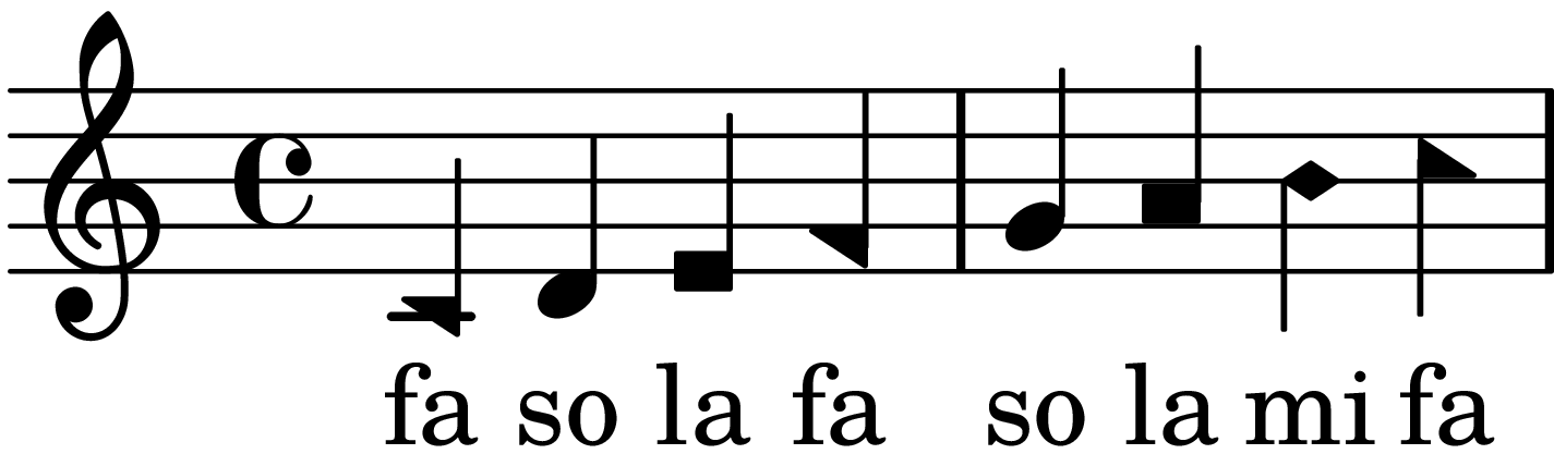 A full-octave major scale with only four syllables: fa so la fa so la mi fa